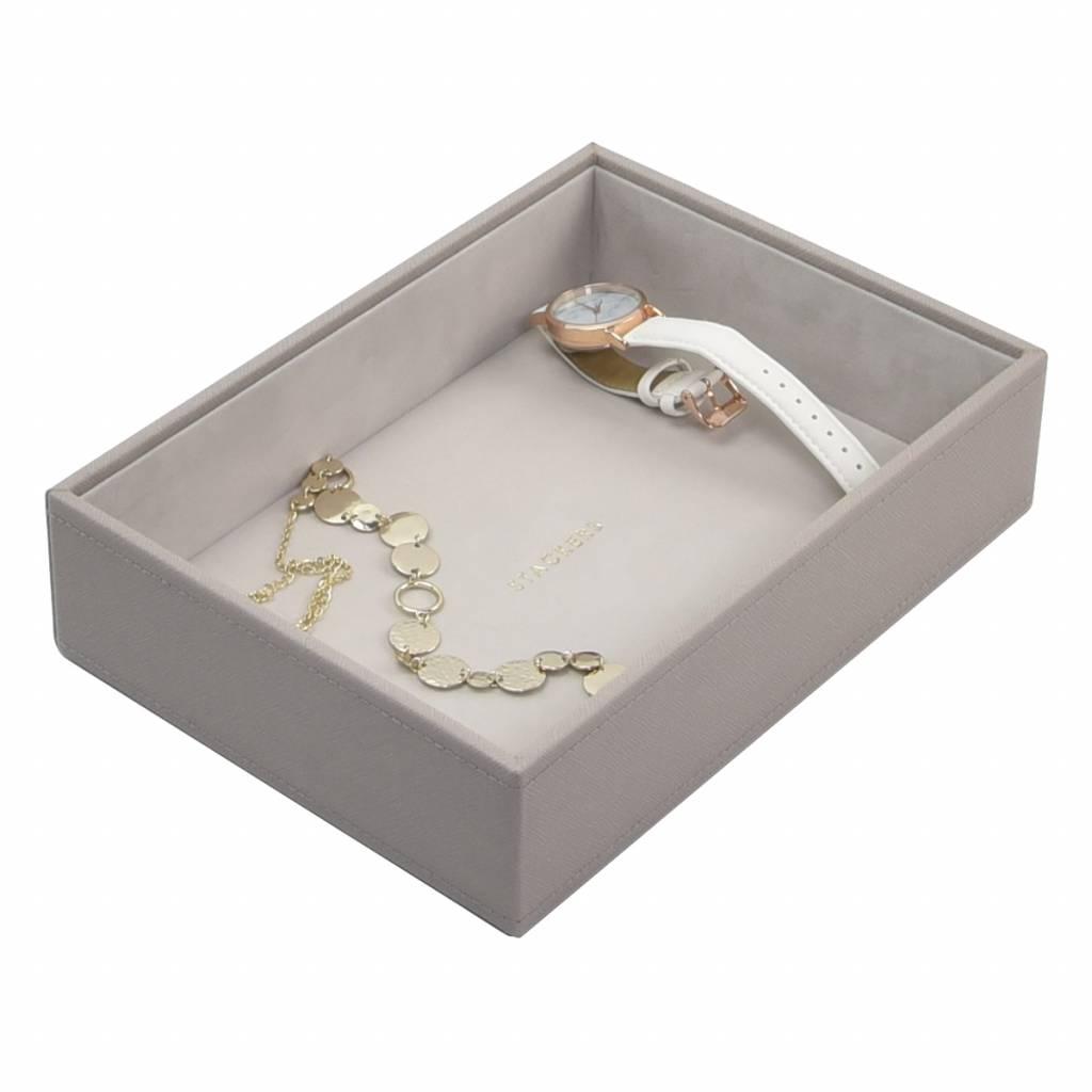 Classic Open Box Taupe & Grey Velvet-1