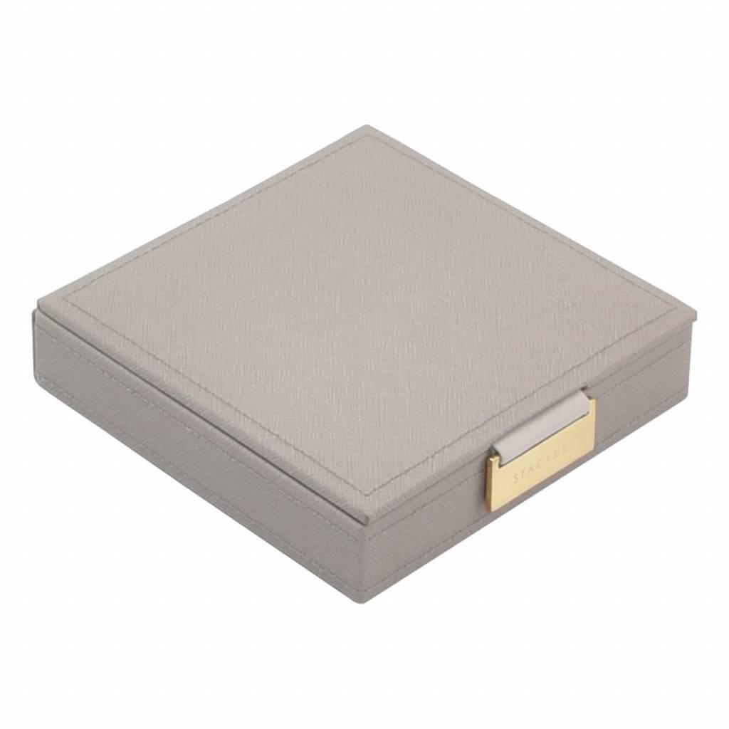 Charm Top Box Taupe & Grey Velvet-1