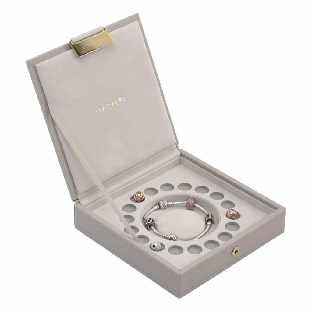 Charm Top Box Taupe & Grey Velvet-2