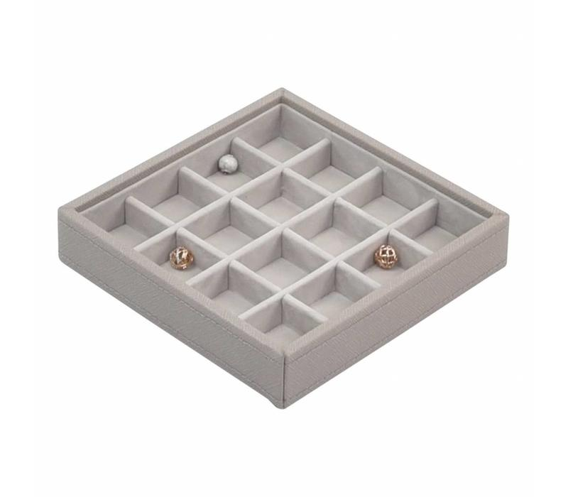 Charm 16-Section Box | Taupe & Grey