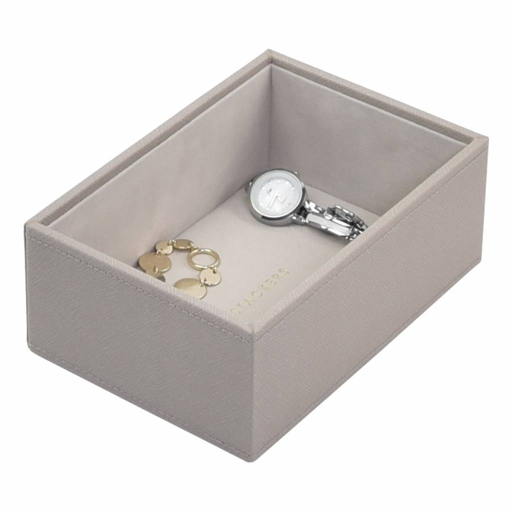 Mini Open Box Taupe & Grey Velvet-1