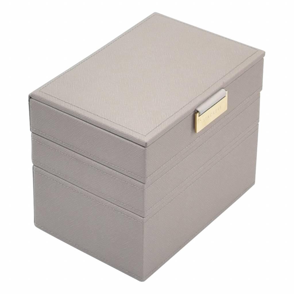 Mini 3-Set Taupe & Grey Velvet-1