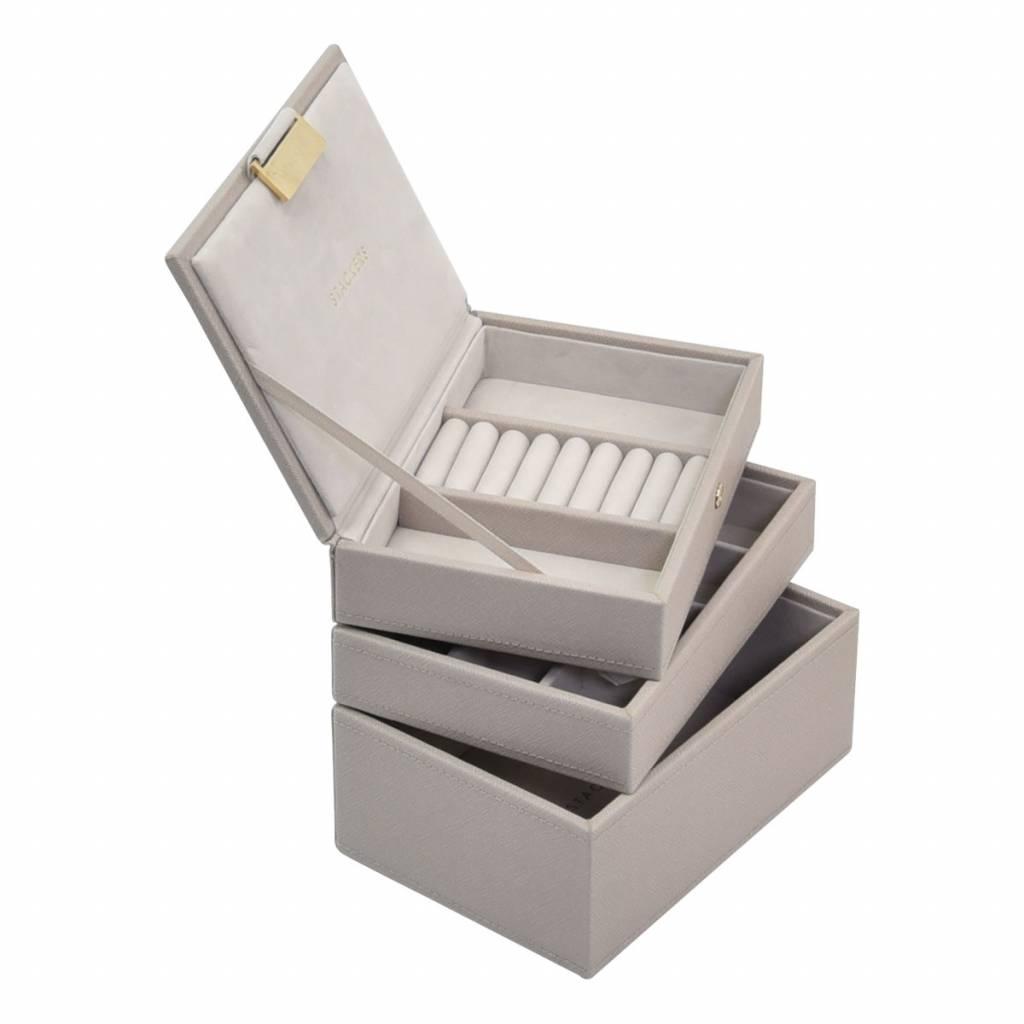 Mini 3-Set Taupe & Grey Velvet-2