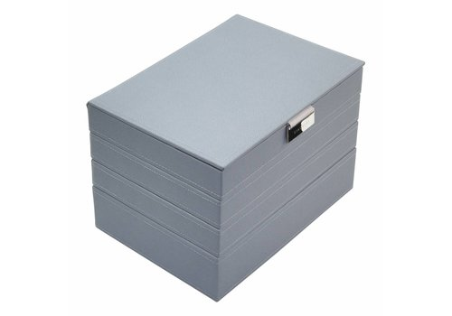 STACKERS Classic Juwelendoos 4-Set | Dusky Blue & Grey