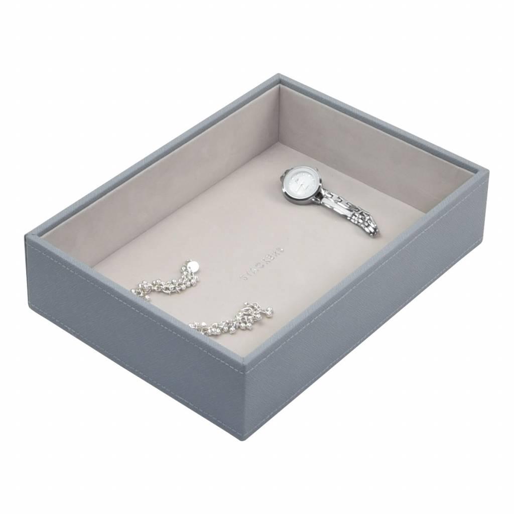 Classic Open Box Dusky Blue & Grey Velvet-1