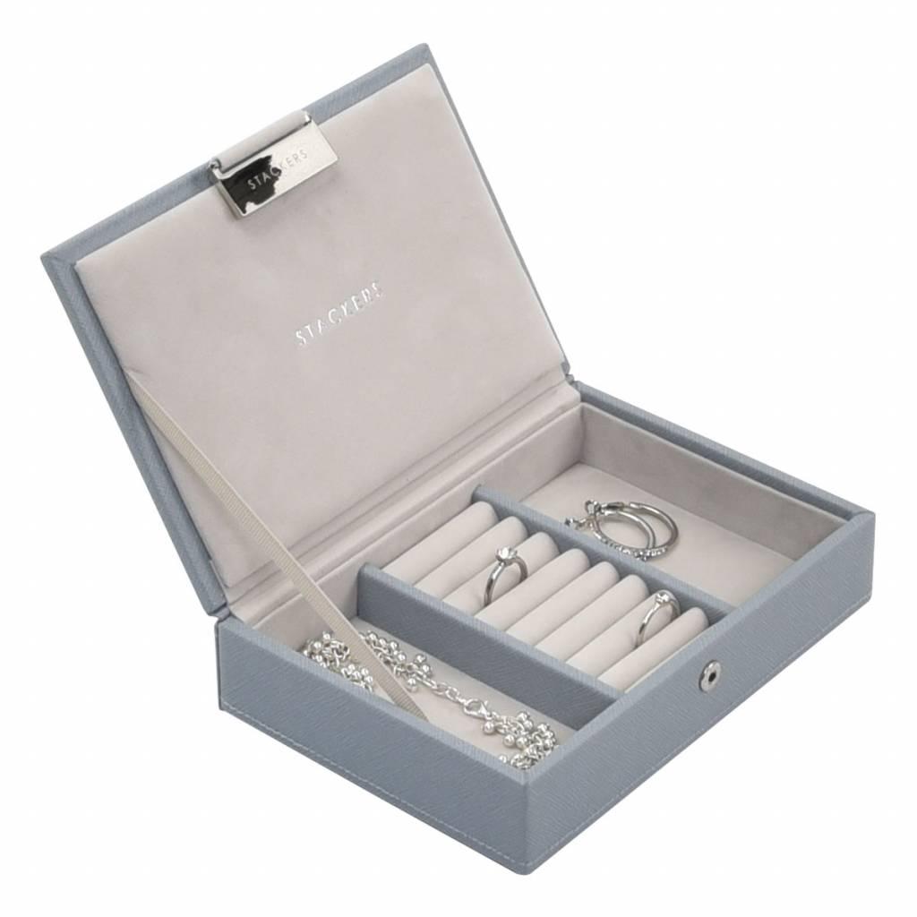 Min Top Box Dusky Blue & Grey Velvet-2