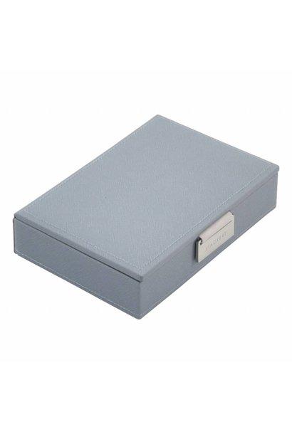 Min Top-Box | Dusky Blue & Grey