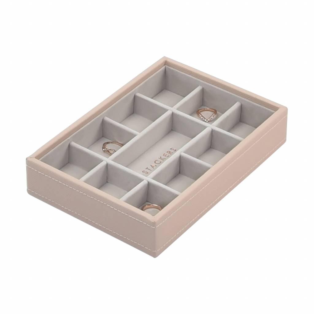 Mini 11-Section Box Blush & Grey Velvet-1