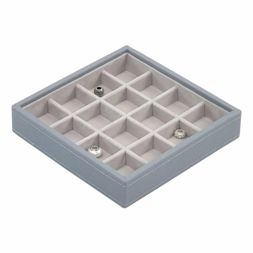 Charm 16-Section Box Dusky Blue & Grey Velvet-1
