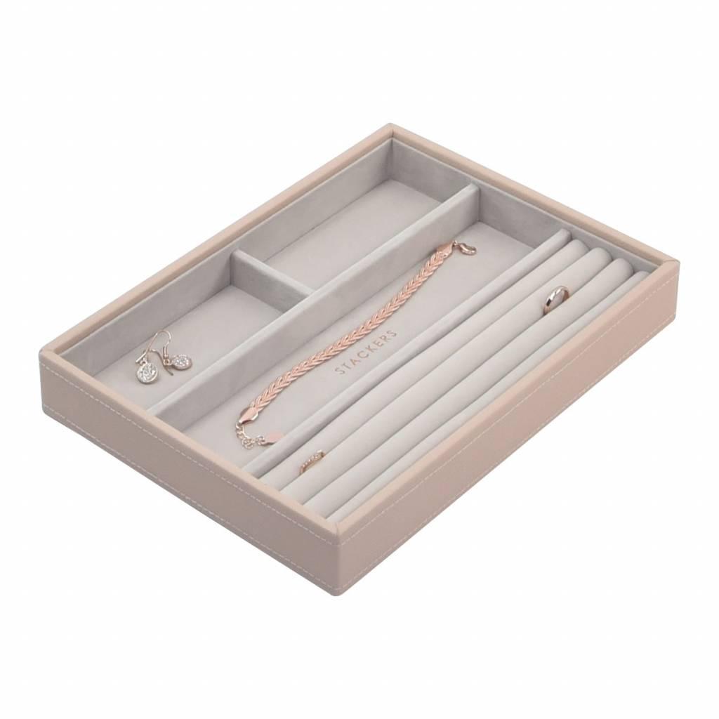 Classic 4-Section Box Blush & Grey Velvet-1