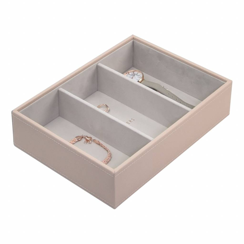 Classic 3-Section Box Blush & Grey Velvet-1