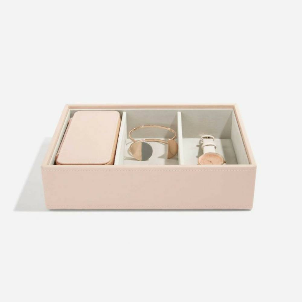 Classic Etui / Travel Box in Blush & Grey-3