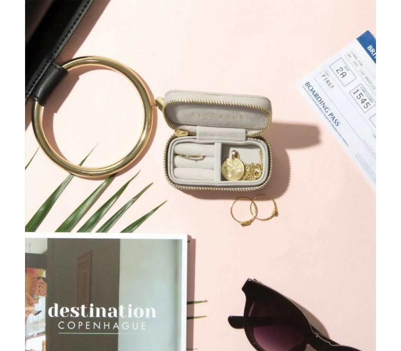 """Mini """"Etui Travel Box"""" in Taupe & Grey"""
