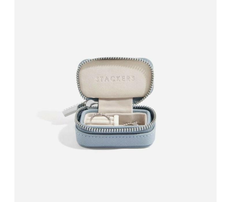 "Mini ""Etui Travel Box"" in Dusky Blue & Grey"
