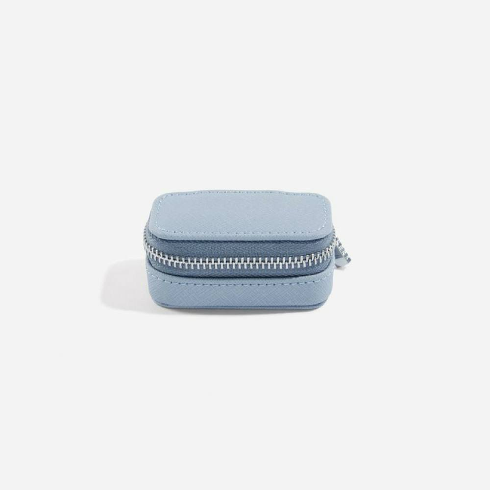 Mini Etui / Travel Box in Dusky Blue & Grey-2