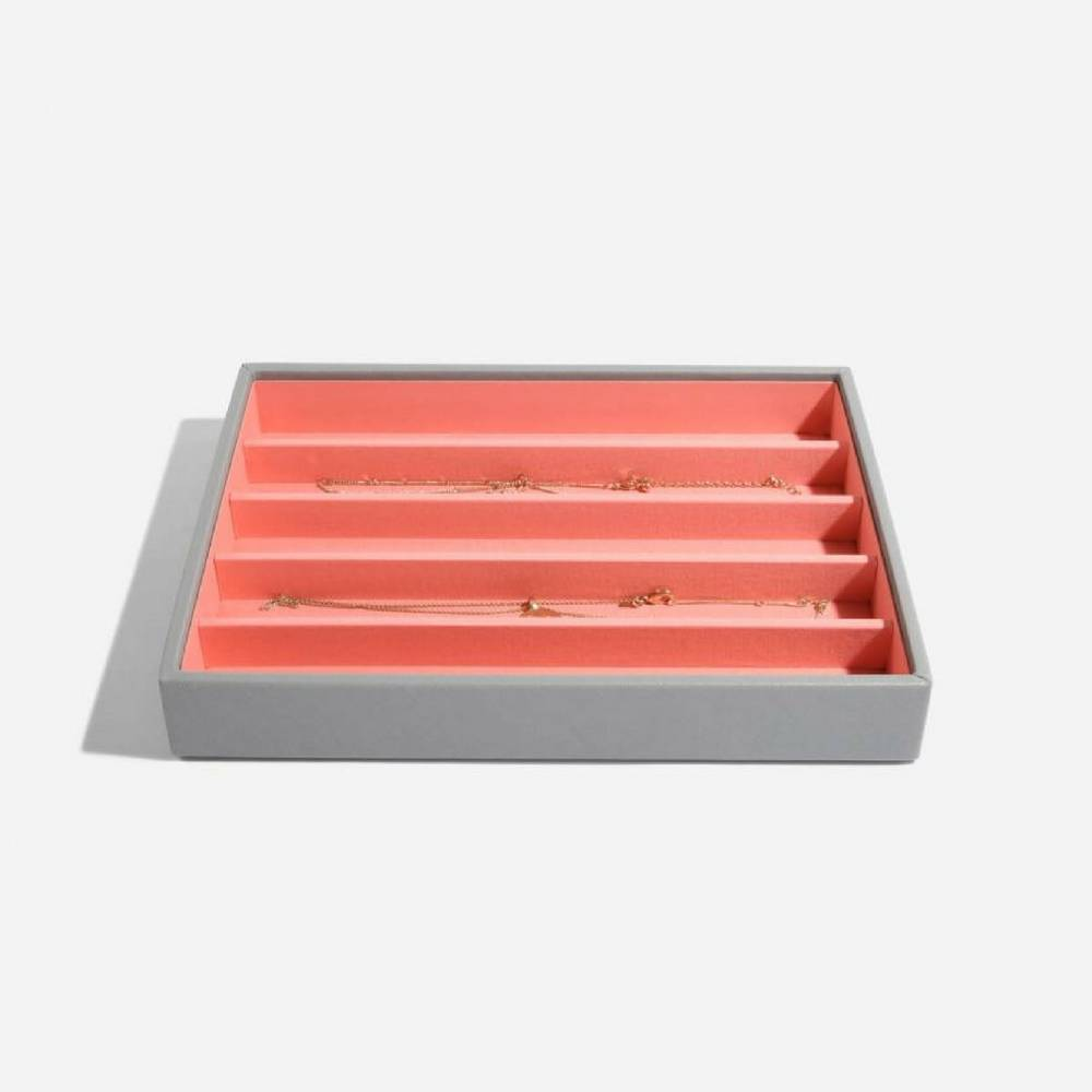 Classic 5-Section Box Grey & Coral-2