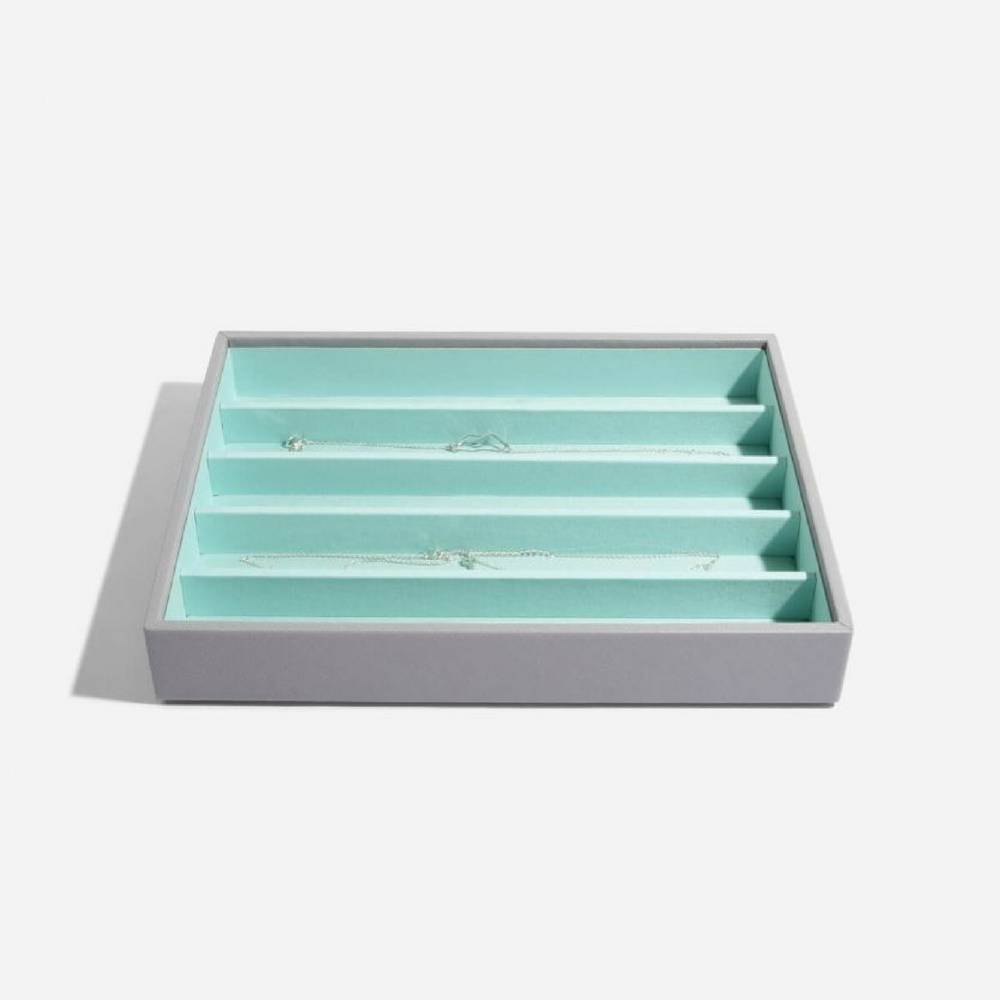 Classic 5-Section Box Grey & Mint-2