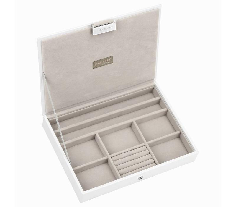 Classic Top Box | White & Stone