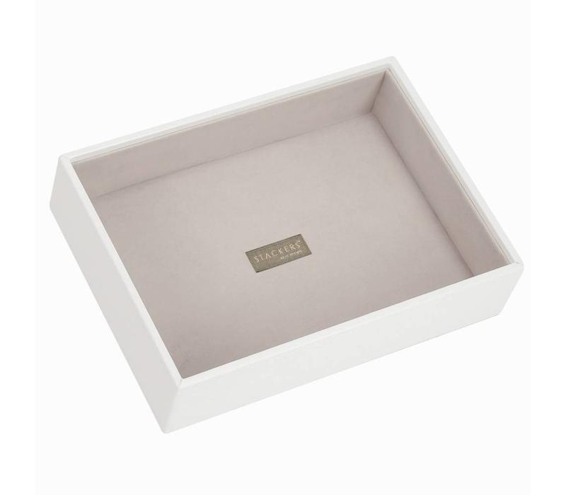 Classic 1-Section Box   White & Stone