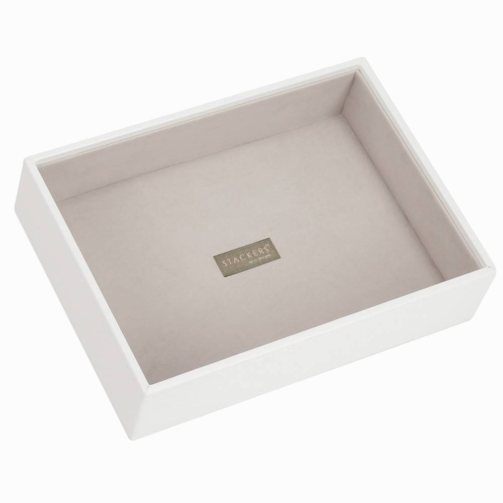 Classic 1-Section Box | White & Stone-1