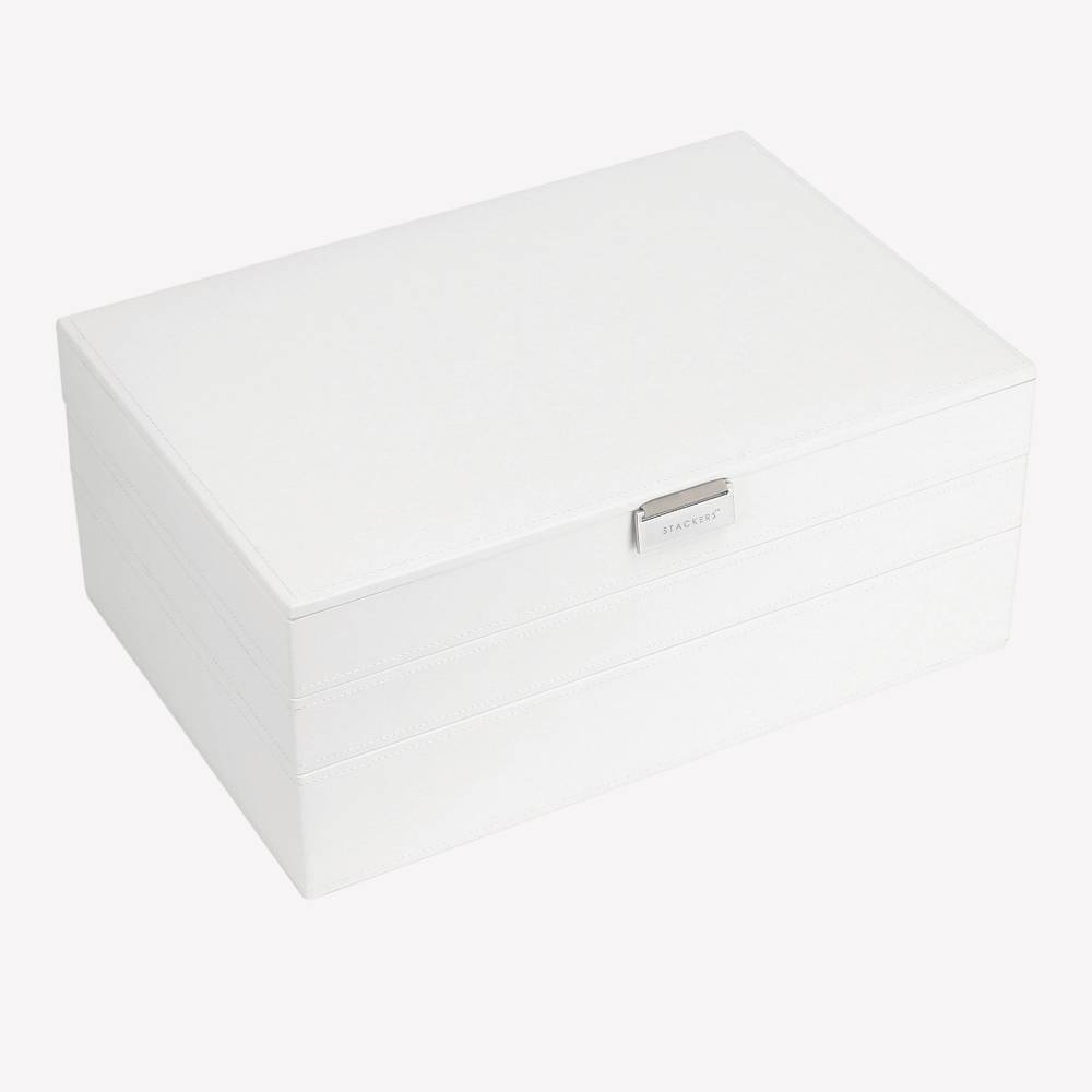 Supersize 3-Set Jewelry Box | White & Stone-1