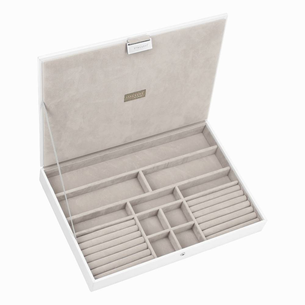 Supersize 3-Set Jewelry Box | White & Stone-2