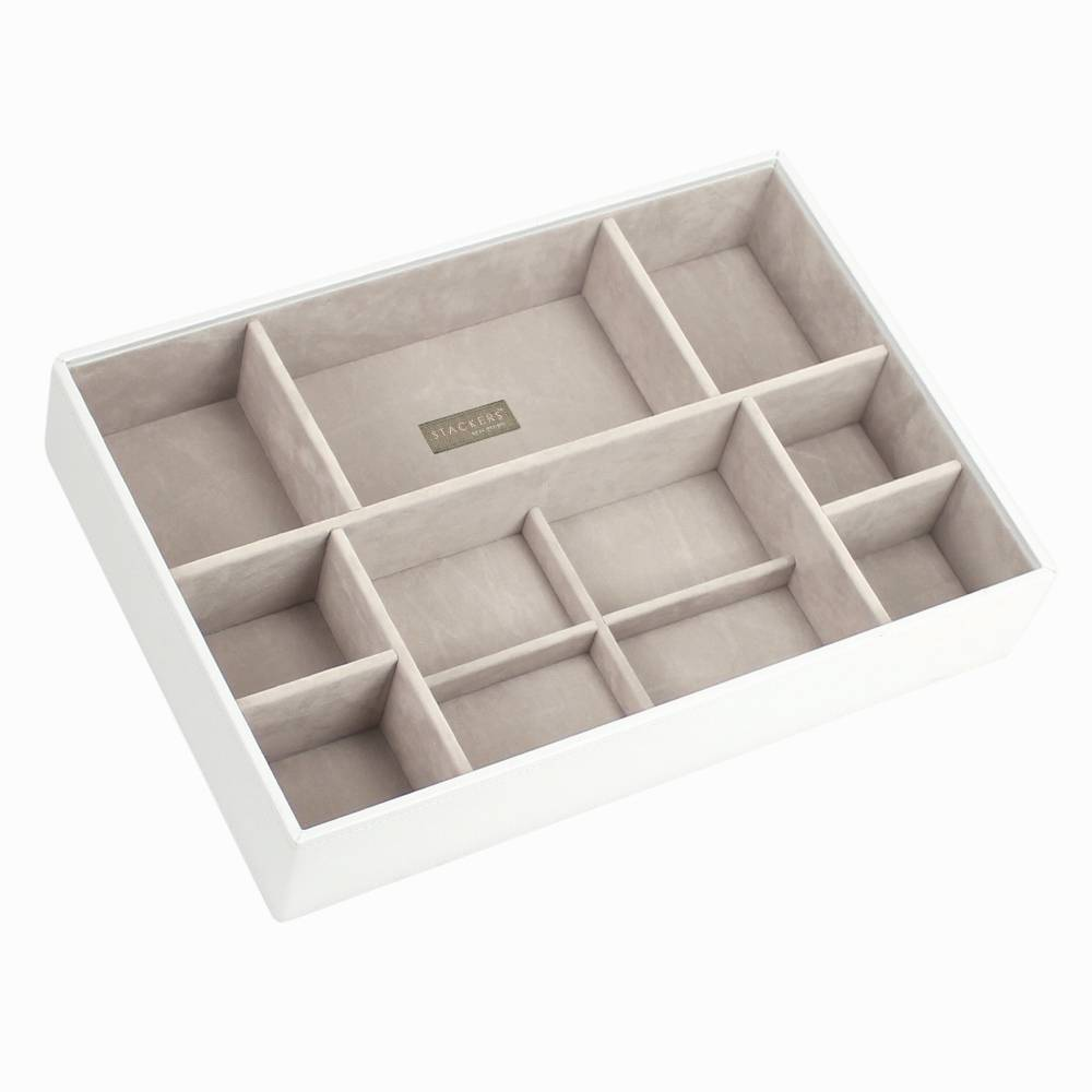 Supersize 3-Set Jewelry Box | White & Stone-4