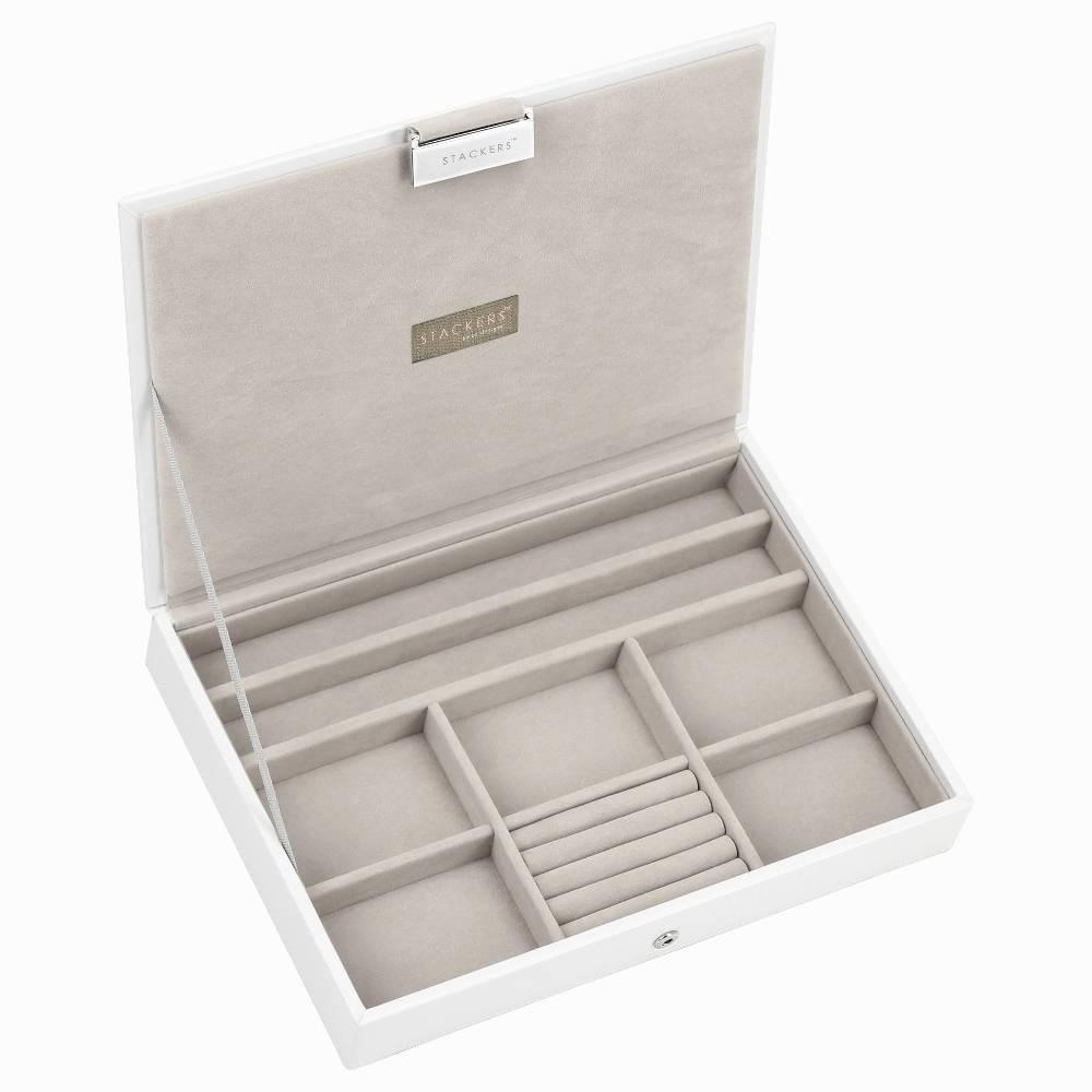 Classic 3-Set Juwelen Sieraden Doos | White & Stone-2