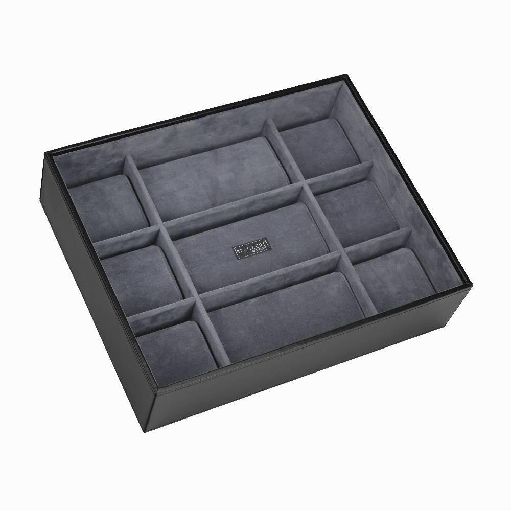 Open 15 Watch Stacker in Black & Grey-1
