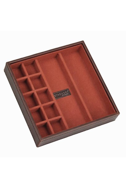 Cufflink Stacker in Brown & Orange