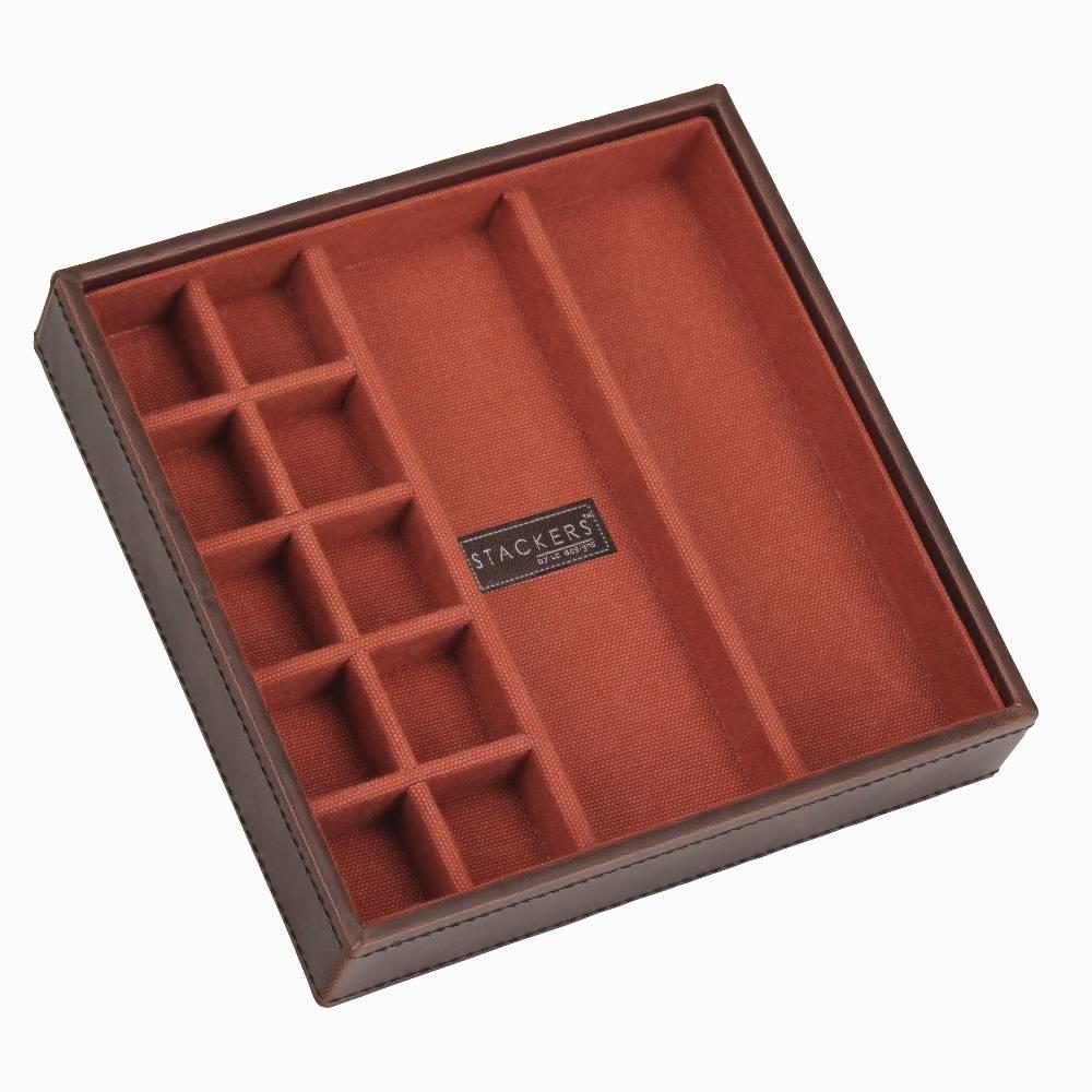 Cufflink Stacker in Brown & Orange-1