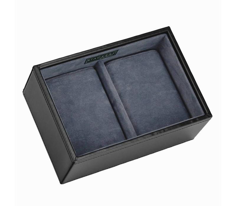 Box Mini 2-Section voor Horloges in Zwart & Grijs