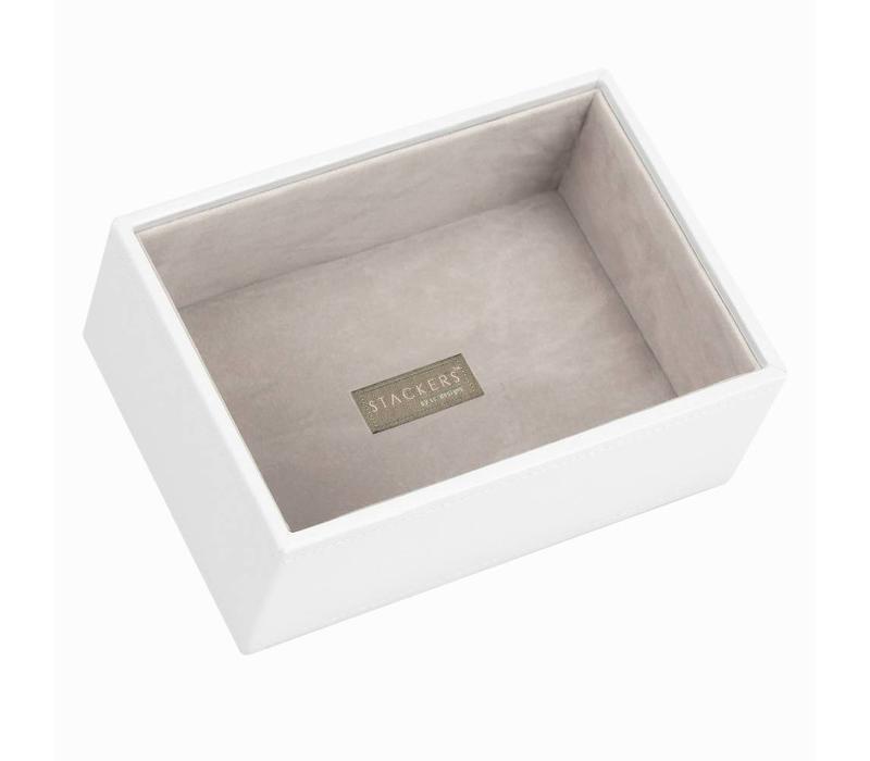 Mini 1-Section Box | White & Stone