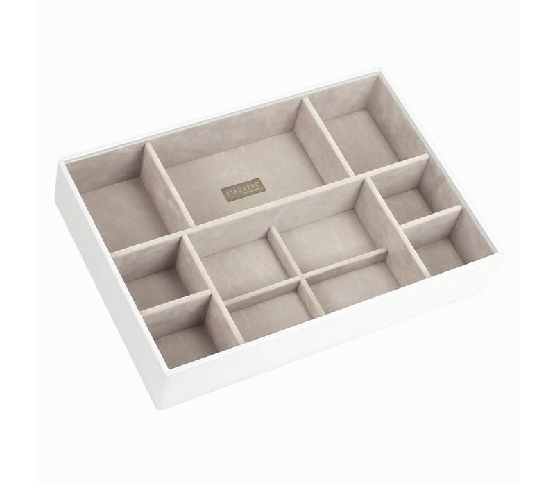 Supersize 11-Section Box | White & Stone