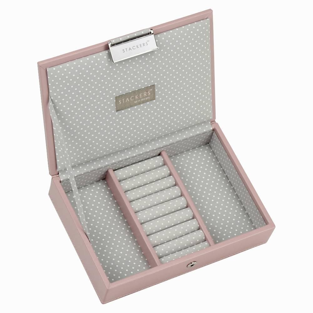 Mini Lidded Stacker in Soft Pink-1