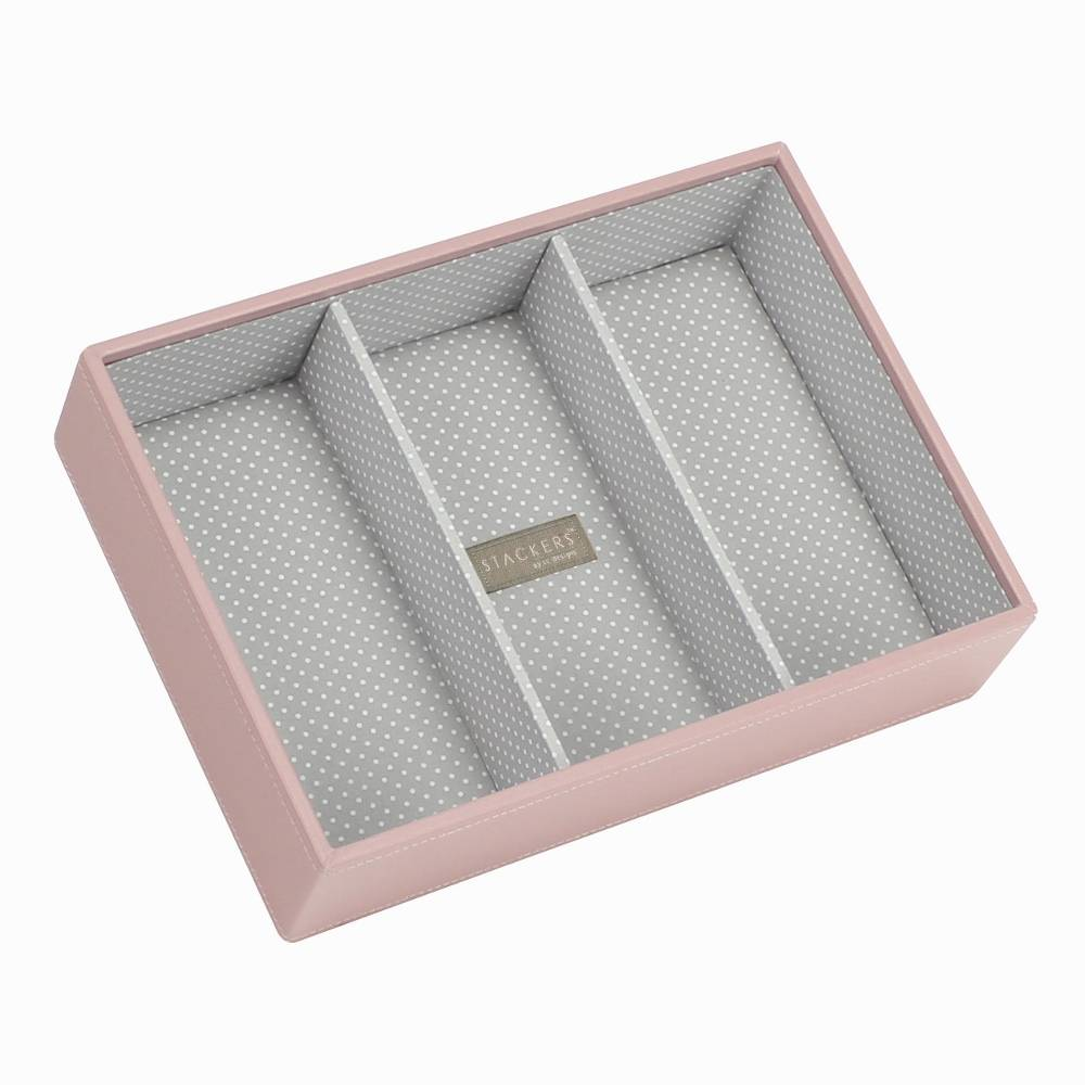 Classic Deep 3-Section Stacker in Soft Pink-1