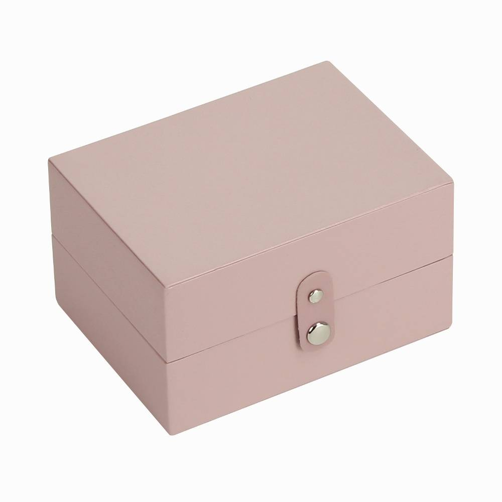 Travel Box in Soft Pink & Grey Spot-1