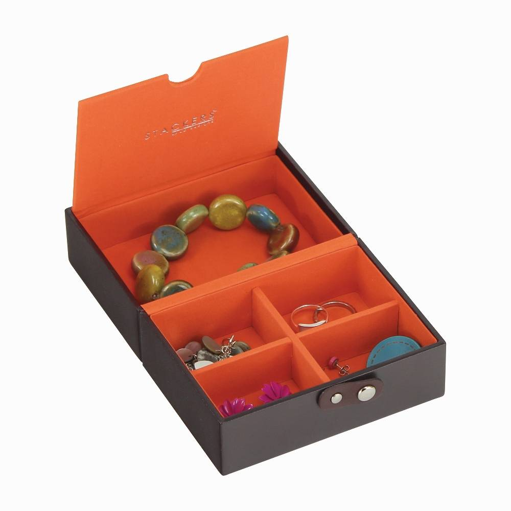 Travel Box in Chocolate & Orange-2