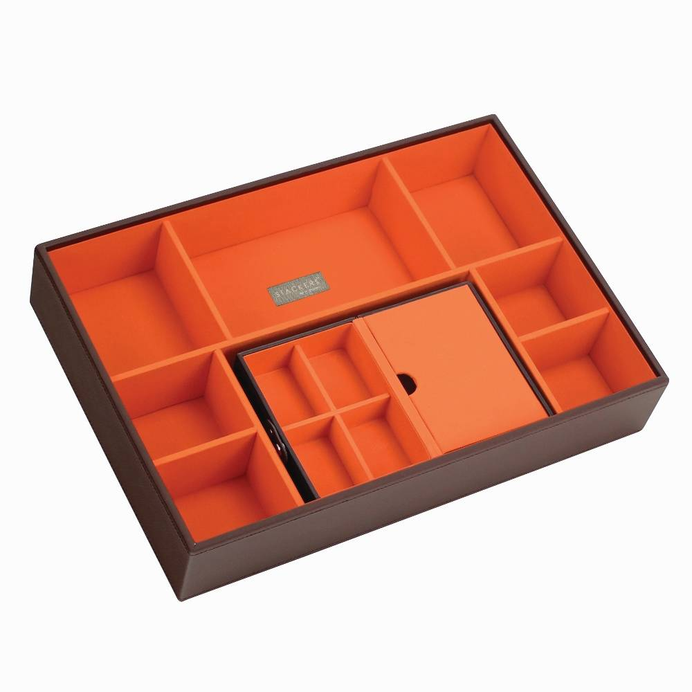 Travel Box in Chocolate & Orange-3