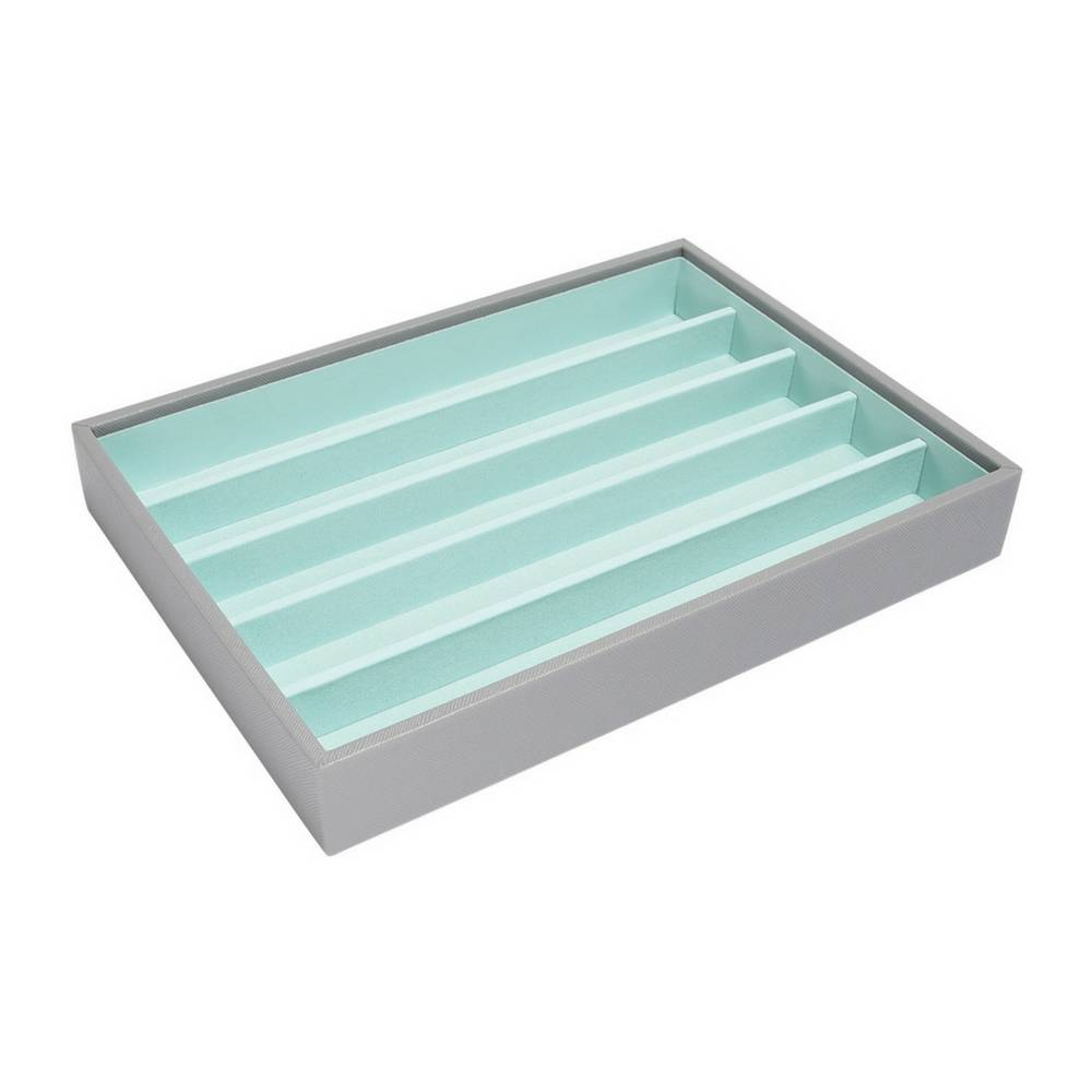 Classic 5-Section Box Grey & Mint-1