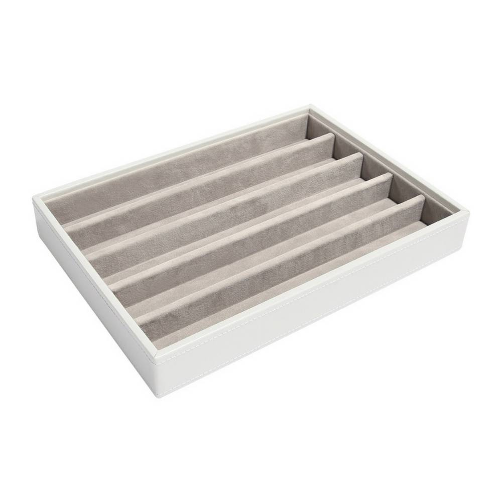 Classic 5-Section Box White & Stone Velvet-1