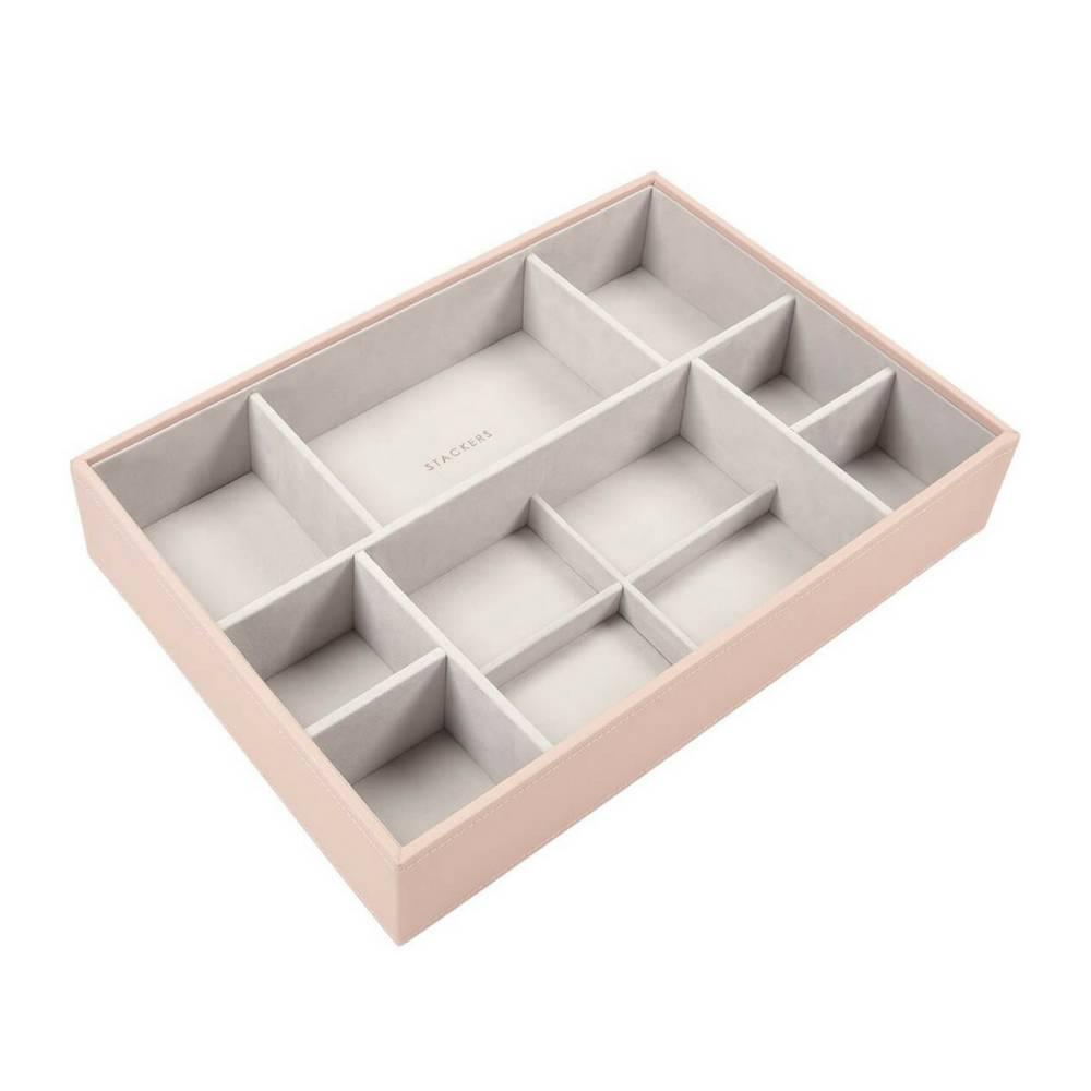 Supersize 3-Set Jewelry Box Blush & Grey Velvet-4