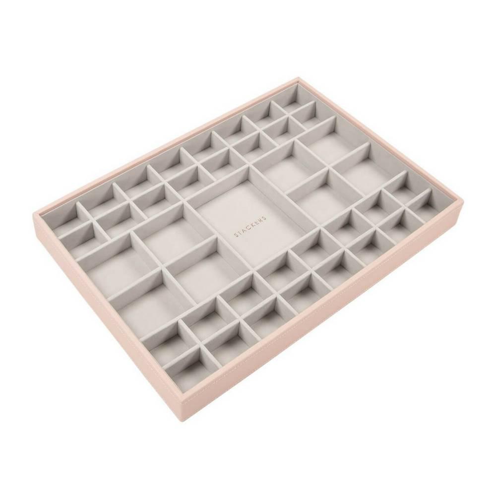 Supersize 3-Set Jewelry Box Blush & Grey Velvet-3
