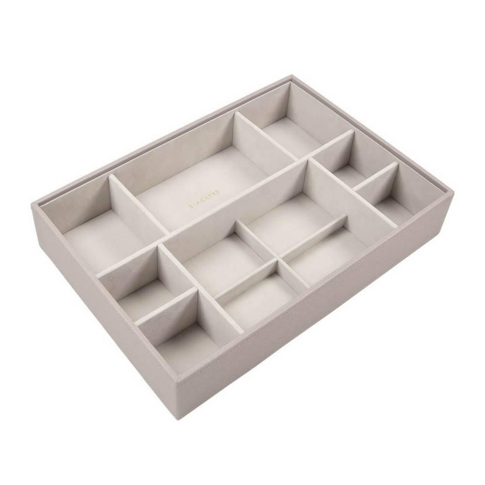 Supersize 3-Set Juwelendoos in Taupe & Grey-4