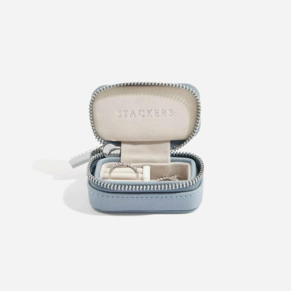 Supersize Etui / Travel Box Set in Dusky Blue & Grey-5
