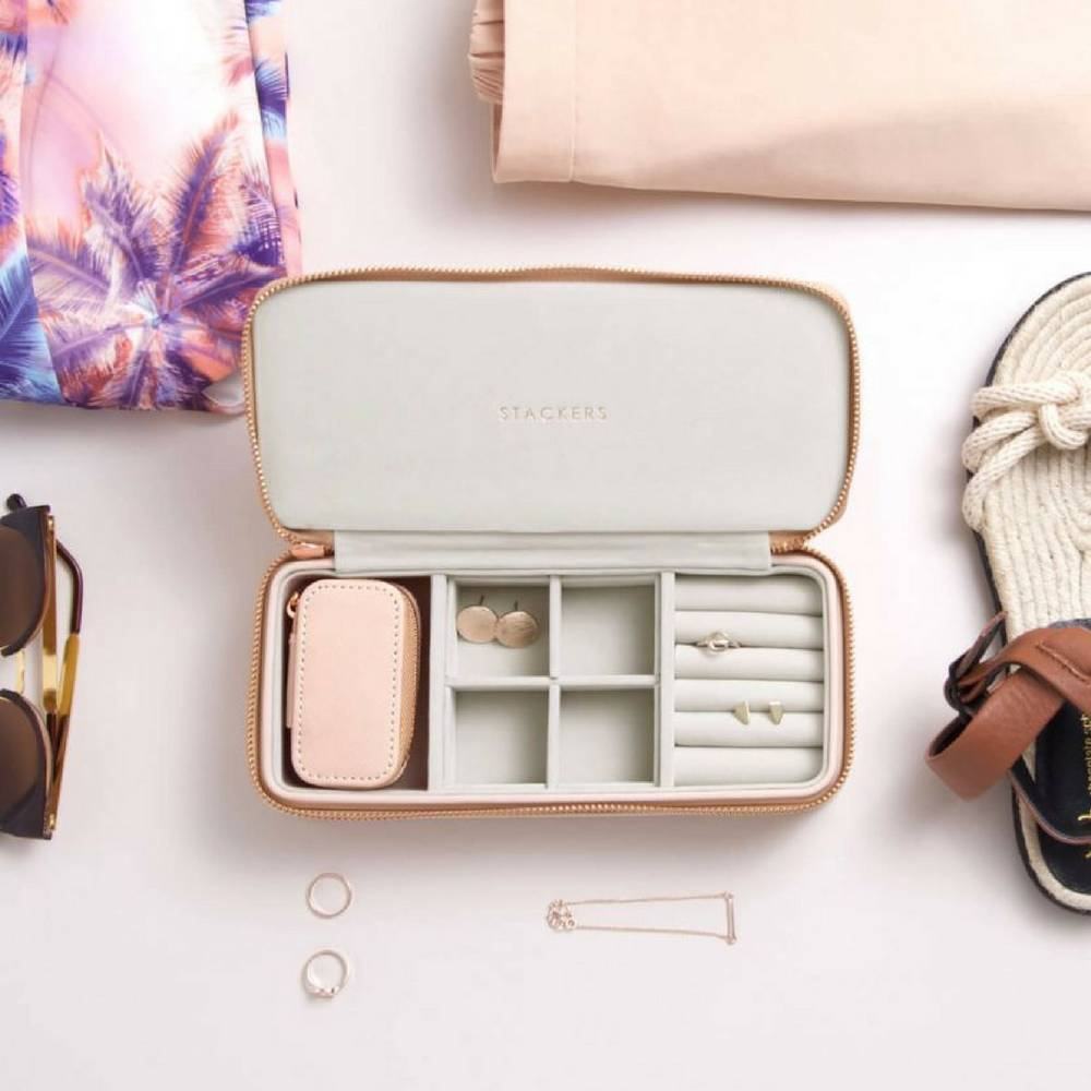 Supersize Etui / Travel Box Set in Blush & Grey-3
