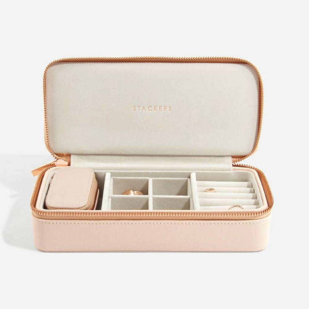Supersize Etui / Travel Box Set in Blush & Grey-1