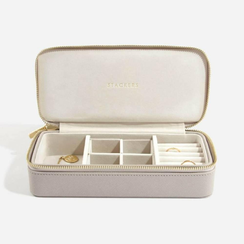 Supersize Etui / Travel Box Set in Taupe & Grey-4