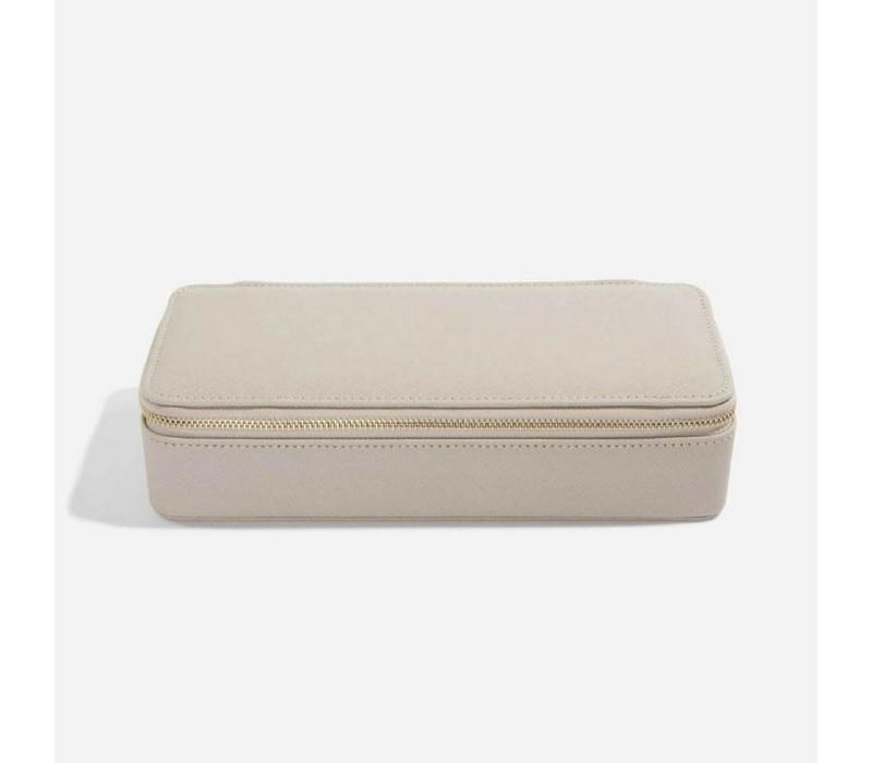 "Supersize ""Etui Travel Box"" Set in  Taupe & Grey"