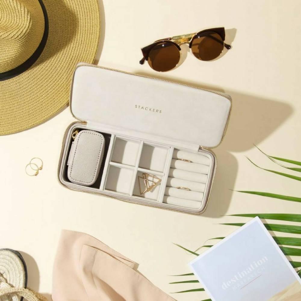 Supersize Etui / Travel Box Set in Taupe & Grey-3